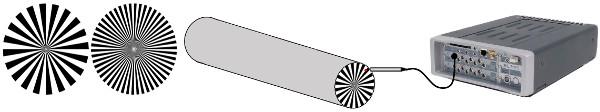 Şekil 6: Zebra disk: bir disk üzerinde 40 bölüm diğer disk üzerinde ise 100 bölüm oluşturulmuştur. Eğer zebra bandı mile sarmak zor ise, zebra disk milin alt yüzeyine yerleştirilebilir.